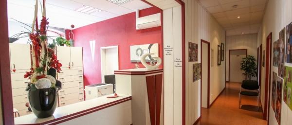 Empfangsbereich Hausarztzentrum Aue, MVZ DerArzt